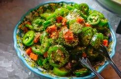 Salada fresca do Jalapeno foto de stock