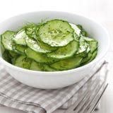 Salada fresca do pepino fotografia de stock