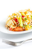 Salada fresca do repolho e do tomate Fotos de Stock Royalty Free