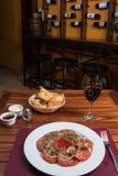 Salada fresca do tomate Imagens de Stock Royalty Free