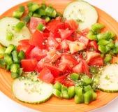 Salada fresca do tomate imagens de stock