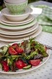Salada fresca do tomate Imagem de Stock Royalty Free