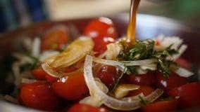 Salada fresca do tomate e da cebola imagens de stock