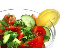 Salada fresca do vegetal cru fotografia de stock