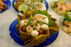 Salada fresca dos camarões Imagem de Stock