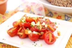 Salada fresca dos tomates fotos de stock