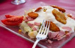 Salada friável da galinha Fotografia de Stock Royalty Free