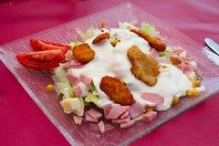 Salada friável da galinha Imagens de Stock