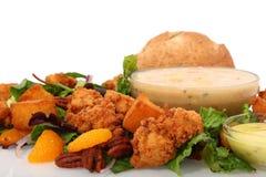 Salada friável da galinha foto de stock