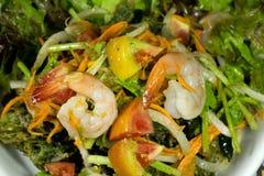 Salada fritada do camarão dos abicans de Sauropus Foto de Stock
