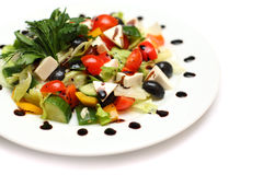 Salada grega - alimento de gourmet Fotografia de Stock Royalty Free