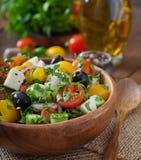 Salada grega com legumes frescos Imagens de Stock
