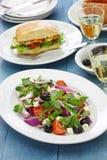 Salada grega com purslane Fotografia de Stock Royalty Free