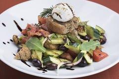 Salada grega com queijo 2 do mizithra Foto de Stock Royalty Free
