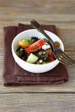 Salada grega com vegetais e queijo Imagem de Stock Royalty Free