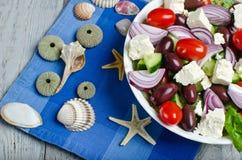Salada grega tradicional da vila Foto de Stock Royalty Free