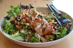 Salada grelhada da galinha foto de stock royalty free