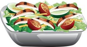 Salada grelhada da galinha ilustração stock