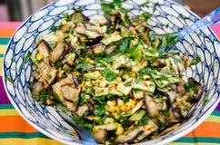 Salada grelhada das beringelas imagens de stock royalty free