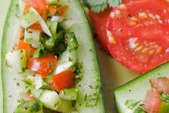 Salada indiana do pepino Fotos de Stock