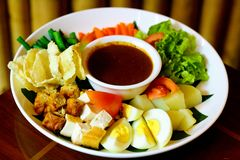 Salada indonésia fotografia de stock royalty free