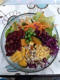 salada inteira das grões com vegetal Fotos de Stock