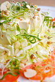 Salada japonesa do Tofu Fotos de Stock Royalty Free