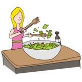 Salada lanç ilustração do vetor
