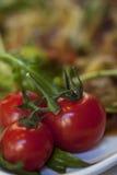 Salada lenta do tomate de cereja do jantar Imagens de Stock Royalty Free