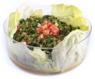 Salada libanesa - tabouleh (isolado) Imagem de Stock Royalty Free