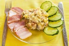 Salada mais olivier Fotografia de Stock