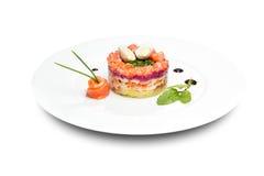 Salada mais olivier Foto de Stock