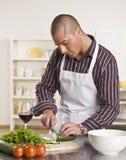 Salada masculina atrativa da estaca Fotografia de Stock Royalty Free