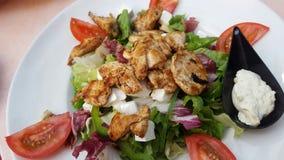 Salada mediterrânea com galinha Imagens de Stock