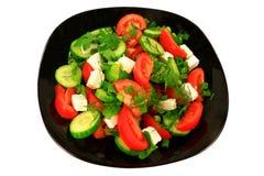 Salada mediterrânea do estilo Imagens de Stock