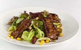 Salada mexicana da especiaria com carne Imagem de Stock Royalty Free