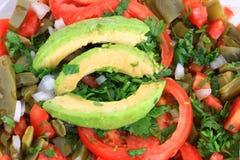 Salada mexicana do cacto do Nopal fotografia de stock royalty free