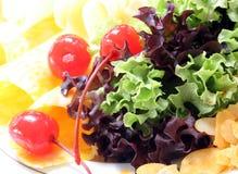 Salada misturada imagens de stock