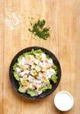 salada misturada da abóbora na placa de madeira Imagem de Stock