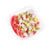 Salada morna da carne Foto de Stock Royalty Free