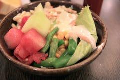 Salada na bacia Foto de Stock Royalty Free