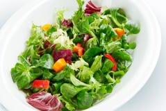 Salada na bacia foto de stock