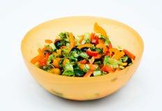 Salada na bacia. Imagens de Stock