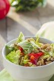 Salada na bacia Fotos de Stock Royalty Free
