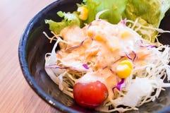 Salada na placa Foto de Stock