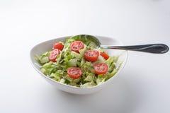 Salada no branco Fotos de Stock Royalty Free