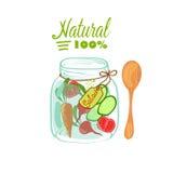 Salada no frasco ilustração stock