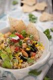 Salada orgânica da bacia do Chipotle fotos de stock