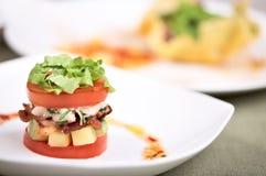 Salada ou aperitivo delicioso fotografia de stock royalty free