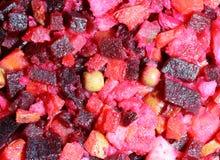 Salada ou vinaigrette do russo Fotos de Stock Royalty Free